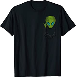 Alien Pocket Cool Funny Cute Peace UFO Gift T-Shirt