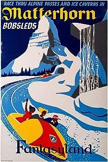 zolto poster Rare Poster Thick Matterhorn Disney 1950s fantasyland 12
