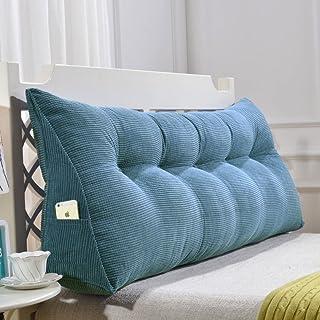 TW1000 Cuña Triangular,posicionamiento Cojín De Respaldo De Apoyo Suave Almohada De Lectura para Sofá Cama De Día Cubierta Lavable-Azul 90x50x20cm(35x20x8inch)