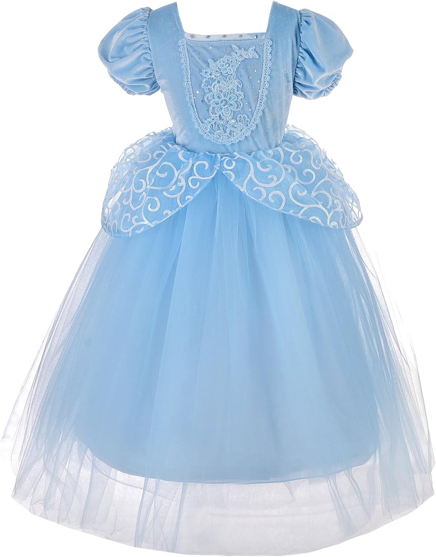 Dressy Daisy Princess Cinderella Costumes for Girls Halloween Party Princess Dress Up