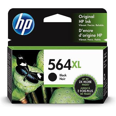 HP 564XL   Ink Cartridge   Black   Works with HP DeskJet 3500 Series, HP OfficeJet 4600 5500 C6300 6500 7500 Series, B8550, D7560, C510, B209, B210, C309, C310, C410, C510   CN684WN