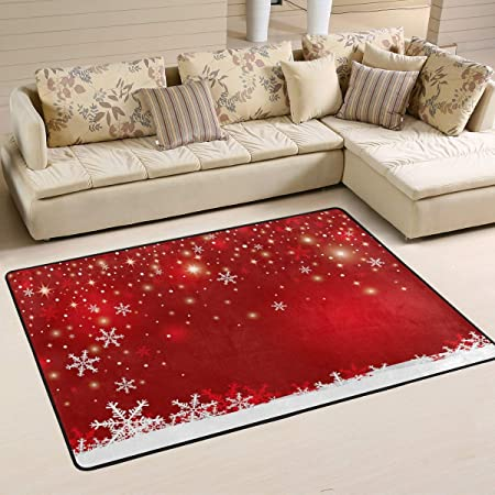 Use7 Merry Christmas Tree New Year Red Area Rug Rugs Carpet For Living Room Bedroom 100 X 150 Cm 3 X 5 Feet Amazon Co Uk Kitchen Home