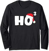 HO HO HO Cubed Christmas Xmas Funny Math Gift Teacher Santa Long Sleeve T-Shirt