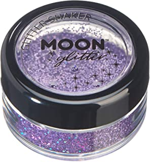 Holographic Glitter Shakers by Moon Glitter – 100% Cosmetic Glitter for Face, Body, Nails, Hair and Lips - 0.17oz - Purple