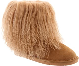 BEARPAW Boo Women Round Toe Suede Gray Winter Boot
