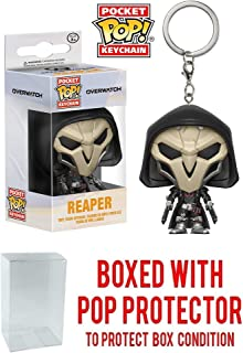 Pocket Pop! Games: Overwatch Reaper Mini-Figural Keychain (Bundled with Pop Box Protector CASE)