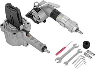 Happybuy 32mm Pneumatic Steel Strapping Machine Tensioner and Sealer Hand-hold Pneumatic Strapping Tools 0.6-1.2mm Clamping Machine + Locking Machine for Strapping Steel Straps (Clamper+Locker 32mm)