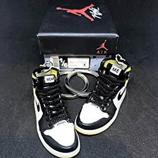 0459d5eba73 Pair Air Jordan 1 I High Retro NRG Not For Resale Yellow OG Sneakers Shoes  3D