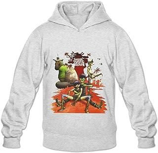Soulya Men's Gorillaz Plastic Beach Spring Hoodies Sweatshirt Size US Black