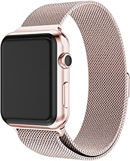 Gosuper Milanese Loop Replacement Sport Strap iWatch Band For Apple Watch 40mm 44mm,Stainless Steel Bracelet For iWatch Se...