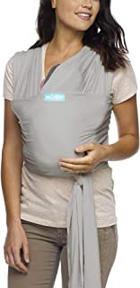Moby Classic Baby Wrap (Stone Grey) – Baby Wearing Wrap for Parents On The Go-Baby..