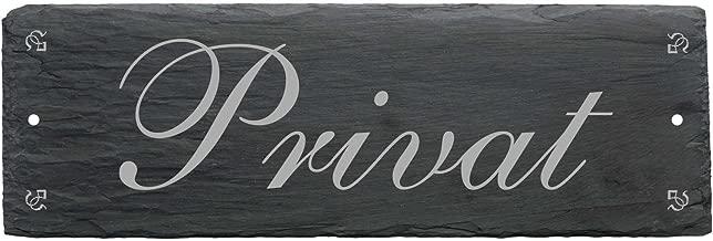 Cartel « Privado » de pizarra - Aprox. 22 x 8 cm - Placa de ...