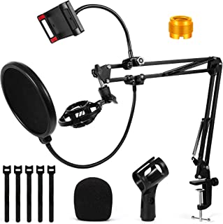 Microphone Stand, PGFUNNY Microphone Adjustable Arm Stand...