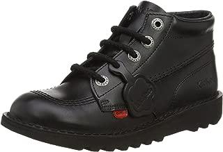 Kick Hi Core Black Leather Unisex Lace Up School Boots