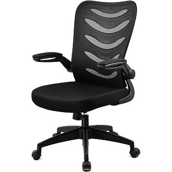 GTXMAN オフィスチェア メッシュ ハイバック デスクチェア パソコンチェア 事務用椅子 跳ね上げ式アームレスト 通気性抜群 昇降機能付き ロッキング機能 黒 CH106-BLACK