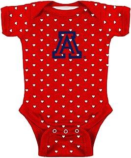 Best NCAA College Girls Newborn Infant Hearts Bodysuit Creeper Review