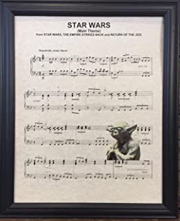Ready Prints Star Wars Empire Strikes Back Music Sheet Artwork Print Picture Poster Home Office Bedroom Nursery Kitchen Wall Decor - unframed