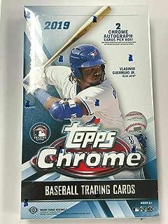 2019 Topps Chrome Baseball Hobby Box (24 Packs/4 Cards: 2 Autographs)