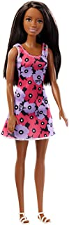 Barbie African American Doll with Spring Dress Purple and Pink Flowers