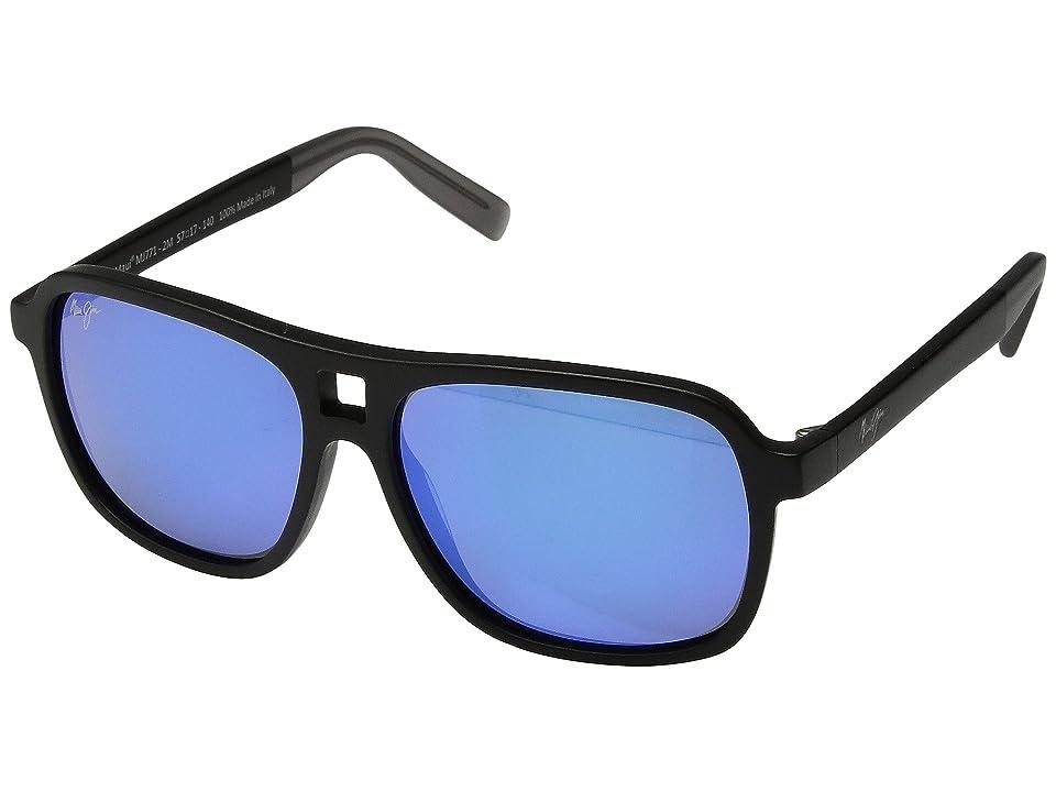 Maui Jim Little Maks (Matte Black) Athletic Performance Sport Sunglasses