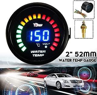 Best Design Car Auto 2inch 52mm 20 Leds Red Green Digital Water Temp Temperature, Digital Temp Gauges - V Led Alarm, Gauge Panel, Led Aquarium Light Dimmer, Led Panel Wire, . V Led, Led Db Display