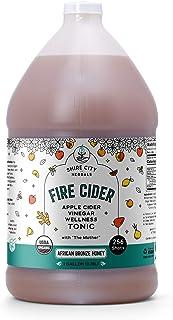 Fire Cider, Tonic, 128 oz (gallon), African Bronze flavor, 256 Daily Shots, Apple Cider Vinegar, Whole, Raw, Organic, Not ...