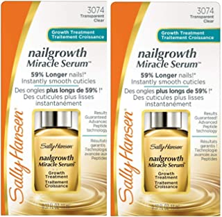 Sally Hansen Nailgrowth Miracle Serum, Clear [3074], 0.37 oz (Pack of 2)