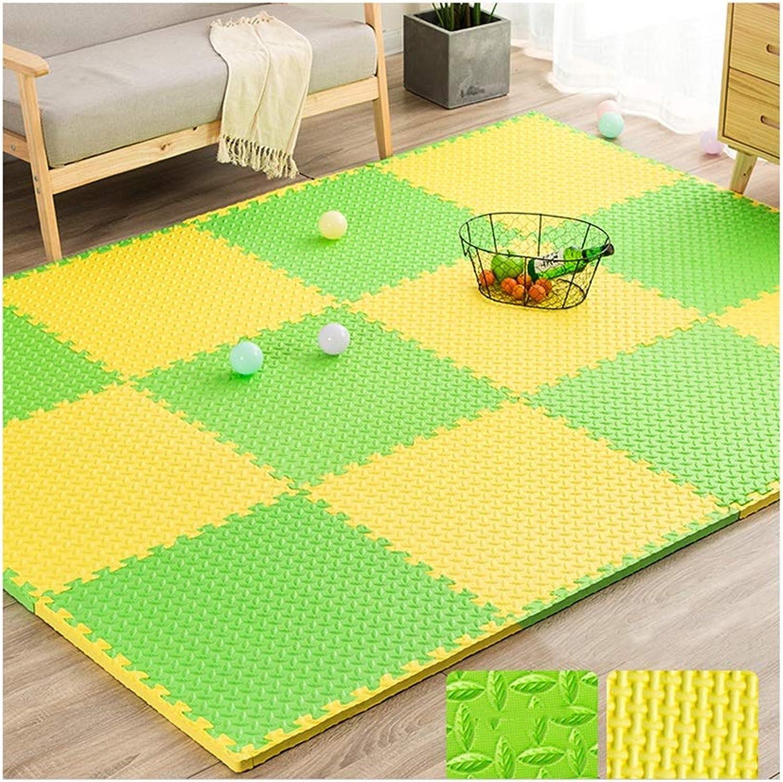 MAHFEI-Puzzlematten Fitnessstudio Wohnzimmer Baby Kriecht rutschfest Weich Einfach Zu Subern PE Mehrfache Farben Freie Kombination (Farbe   J, Größe   16PCS)