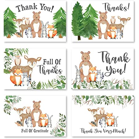 Creepy Cute Vintage Antiquity Bunny Rabbit Victorian Edwardian Forest Friend Woodland Animals Greeting Thank You Animal Notecards