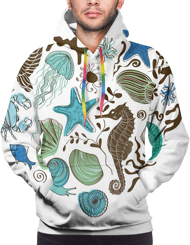 Men's Hoodies Sweatshirts,Heart Created with Shamrocks Nature Love St Patricks Day