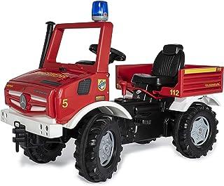 Rolly Toys 038220 rollyUnimog FIRE Edition 2020 Kinderunimog, Tretfahrzeug - inkl. RollyFlashlight, Sitz verstellbar, Flüsterlaufreifen