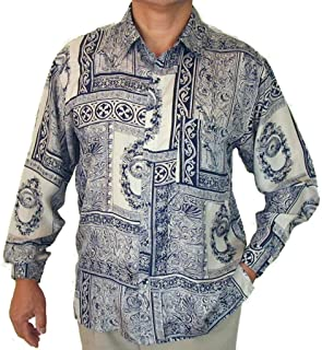 Surprise Mens Printed 100/% Silk Shirt #129