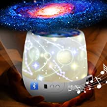 Star Night Light for Kids, Bluetooth Projector Light with LED Timer 360 Degree Rotation Night Lighting Lamp for Baby Birth...