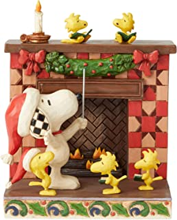 Enesco Snoopy at The Fireplace Jim Shore Statue Standard