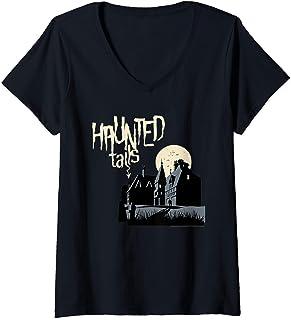 Femme Scooby Doo Haunted Tails T-Shirt avec Col en V