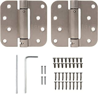 Houseables Self Closing Door Hinges, Mortise Spring Hinge, 5/8