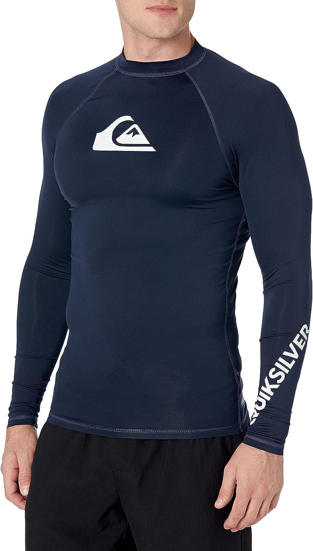 Gifts 5 ☆ popular Quiksilver Men's All Time Long Sleeve 50 Rashguard UPF Sun Prote