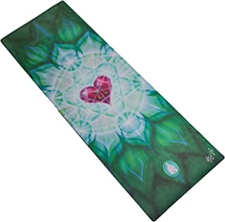 Spiritual Revolution Yoga Combo Mat - Luxury Mat and Towel That Grips While You Sweat. No Slip, PVC Free, and Machine Washable.
