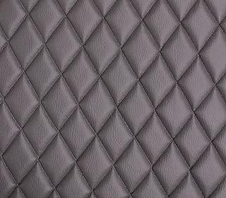 Vinyl Grain Texture Quilted Foam Gray Fabric 2