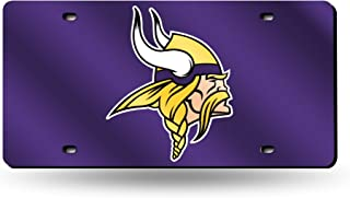 NFL Minnesota Vikings Laser Inlaid Metal License Plate Tag