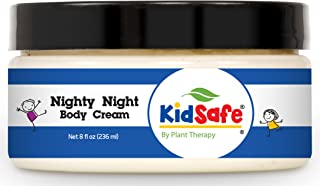 Plant Therapy Nighty Night Body Cream. Made with 100% Pure Essential Oils. Blend of: Lavender, Marjoram, Mandarin, Cedarwood Atlas, Patchouli, Clary Sage, Chamomile Roman and Blue Tansy. 8 oz.
