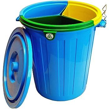 Fapil 10798 - Cubo para reciclaje con 3 cubos interiores, 50 litros