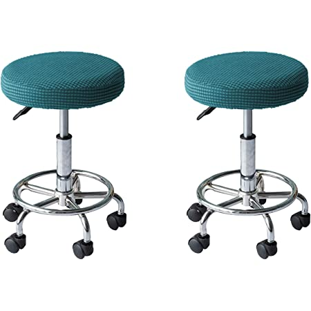Round Bar Stool Cover Stretch Removable Elastic Chair Pad Protector for D1R3