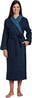 Robes for Women, Cotton Flannel Fleece Lined Womens Robe, Cotton Bathrobes for Women
