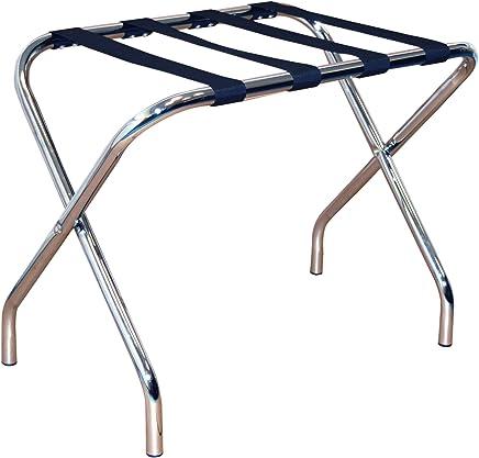 Chrome Para el Hogar Harbor plegables de metal Bastidores de equipaje Pack de 2
