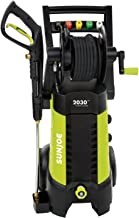 Sun Joe SPX3001-RM 2030 PSI 1.76 GPM 14.5 AMP Electric Pressure Washer with Hose Reel, Green
