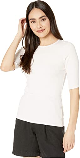 Tara Ultra Rib Slim Crew Neck Tee