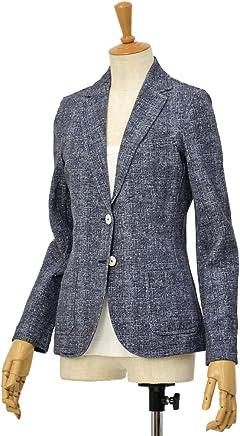 [CIRCOLO 1901【チルコロ】]ツイードプリントジャージジャケット ACD131107 BLU コットン ネイビー