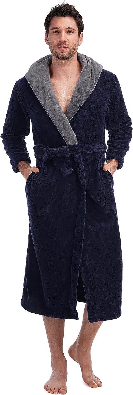 Super sale period limited MOLISOHO Robes for men Men's 5% OFF Loungewear Full Length Hoode Plush