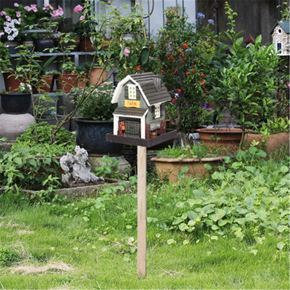 Pajarera Decoración Creativa Comedero For Pájaros De Madera Al Aire Libre Comedero Vertical For Pájaros Al Aire Libre Granja Jardín Jardín Choza Casa De Pájaros Casa De Pájaros Casa De Pájaros Madera: